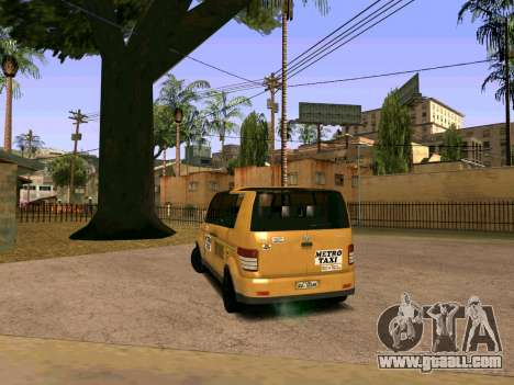 MetroTaxi for GTA San Andreas back left view