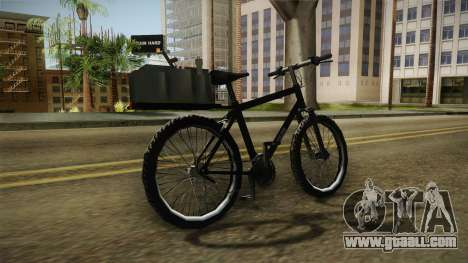 Police Mountain Bike for GTA San Andreas right view