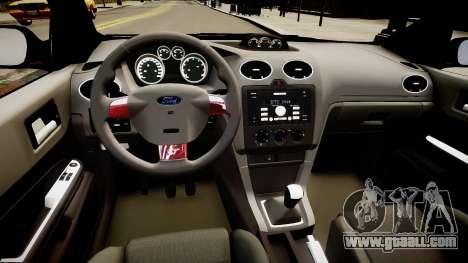 Ford Focus ST 2005 for GTA 4 inner view