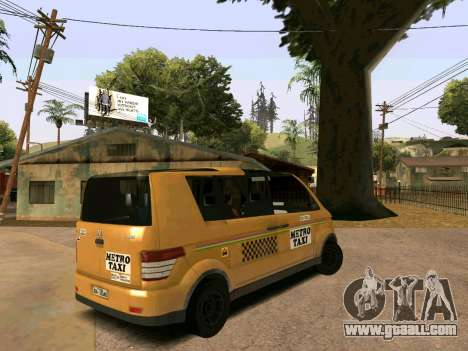 MetroTaxi for GTA San Andreas left view