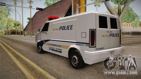Brute Pony 1992 Metropolitan Police Department for GTA San Andreas back left view