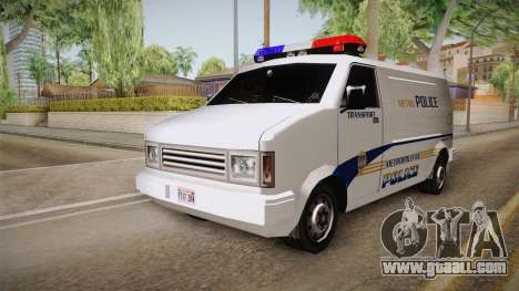 Brute Pony 1992 Metropolitan Police Department for GTA San Andreas right view