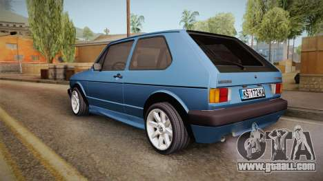 Volkswagen Golf Mk1 GTI for GTA San Andreas left view