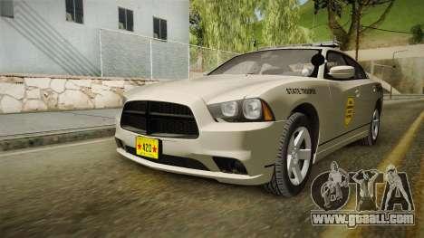 Dodge Charger 2012 SA State Patrol for GTA San Andreas