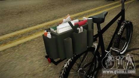 Police Mountain Bike for GTA San Andreas back view