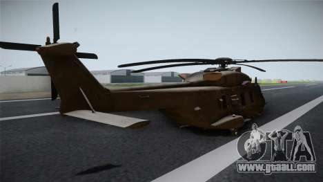 CoD: Ghosts - NH90 for GTA San Andreas left view