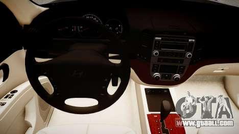 Hyundai Santa Fe for GTA 4 inner view