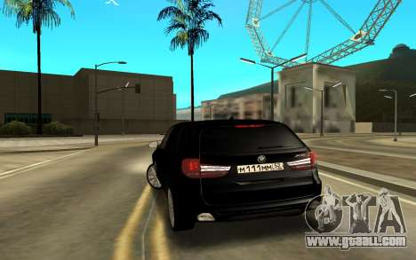 BMW X6 for GTA San Andreas back left view
