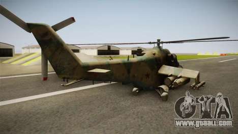 CoD Series - Mi-24D Hind Woodland for GTA San Andreas left view