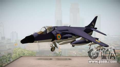 Sea Harrier White Tigers Squadron Indian Navy for GTA San Andreas back left view