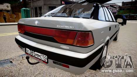 Daewoo Espero GLX 1.5 16V DOHC 1996 for GTA 4 back left view