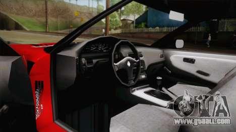 Nissan 180SX Drift for GTA San Andreas inner view