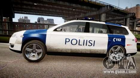 Finnish Police Volkswagen Passat (Poliisi) for GTA 4 left view