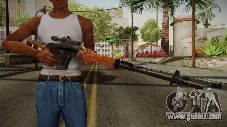 CoD 4: MW - Dragunov Remastered for GTA San Andreas third screenshot