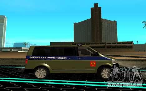 Volkswagen Transporter for GTA San Andreas left view