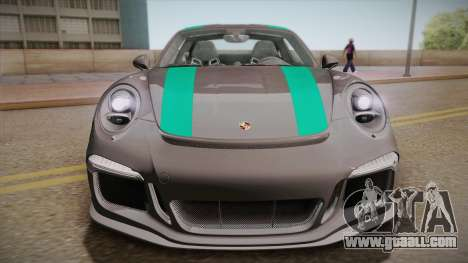Porsche 911 R (991) 2017 v1.0 Green for GTA San Andreas right view