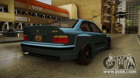 BMW M3 E36 Pandem Kit for GTA San Andreas back left view