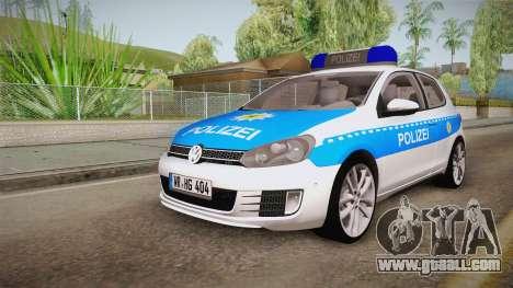 Volkswagen Golf Mk6 Police for GTA San Andreas