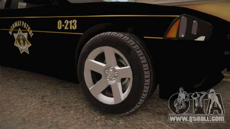 Dodge Charger 2013 SA Highway Patrol v2 for GTA San Andreas back view