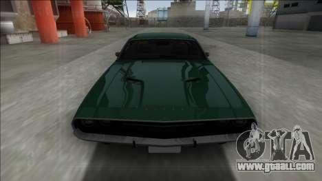 1970 Dodge Challenger 426 Hemi for GTA San Andreas back view