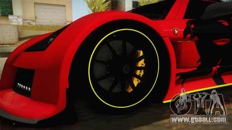 Gumpert Apollo Enraged for GTA San Andreas back view