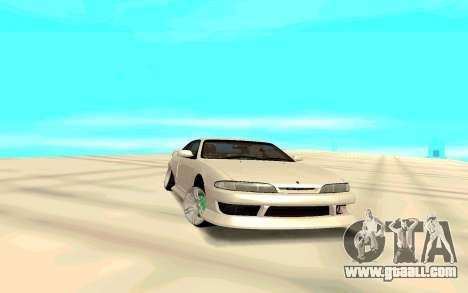 Nissan Silvia White S14 for GTA San Andreas