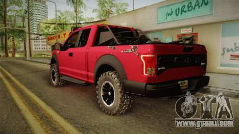 Ford F-150 Raptor 2017 Beta for GTA San Andreas left view