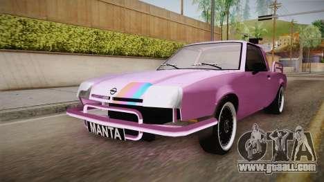 Opel Manta Pickup for GTA San Andreas right view