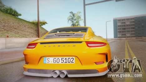 Porsche 911 R (991) 2017 v1.0 for GTA San Andreas inner view