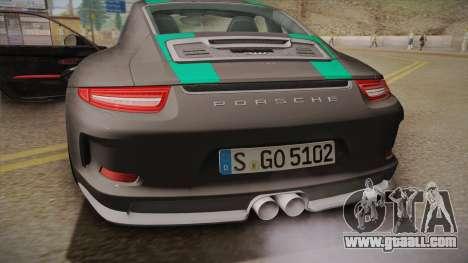 Porsche 911 R (991) 2017 v1.0 Green for GTA San Andreas inner view