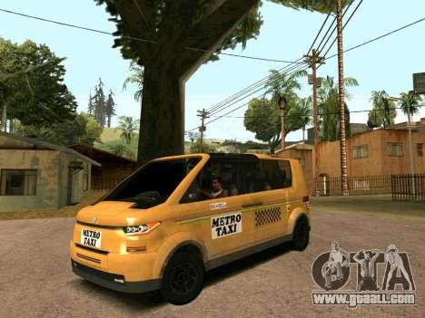 MetroTaxi for GTA San Andreas