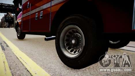 F.D.N.Y. Ambulance for GTA 4 back view