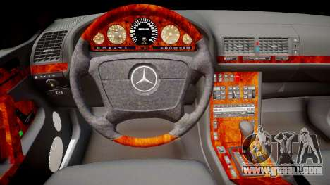 Mercedes-Benz S70 for GTA 4 inner view