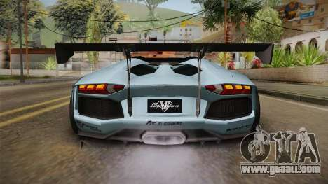 Lamborghini Aventador LP700-4 Roadster 2013 v2 for GTA San Andreas bottom view
