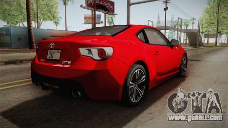 Toyota GT86 2012 Asuka Langley Itasha for GTA San Andreas left view