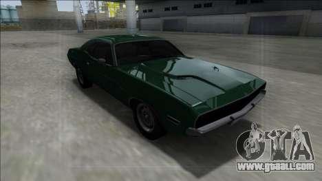 1970 Dodge Challenger 426 Hemi for GTA San Andreas inner view