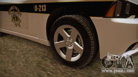 Dodge Charger 2013 SA Highway Patrol v1 for GTA San Andreas back view