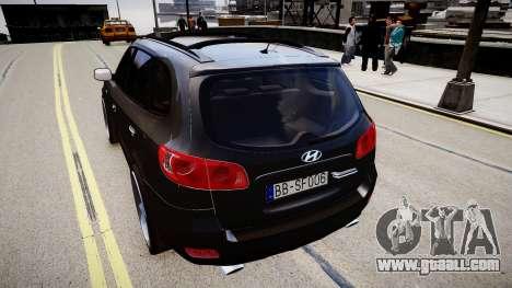 Hyundai Santa Fe for GTA 4 back left view