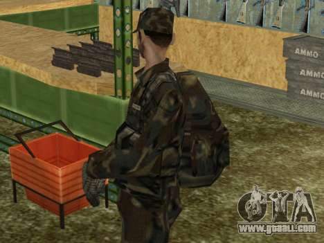 Parachute Military Retexture for GTA San Andreas