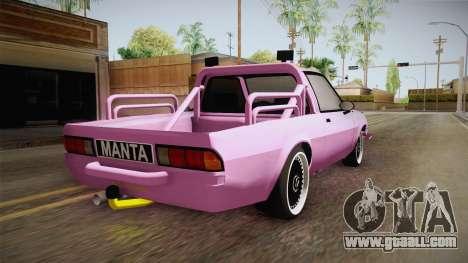 Opel Manta Pickup for GTA San Andreas left view