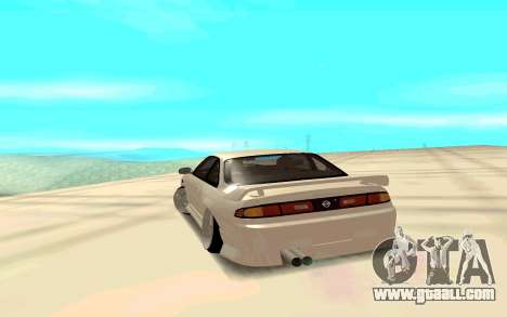Nissan Silvia White S14 for GTA San Andreas back left view