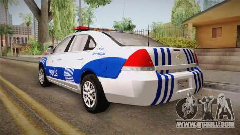 Chevrolet Impala Turkish Police for GTA San Andreas right view