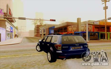 Subaru Forester XT for GTA San Andreas back left view