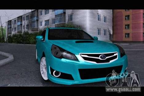 Subaru Legacy B4GT 2010 for GTA San Andreas