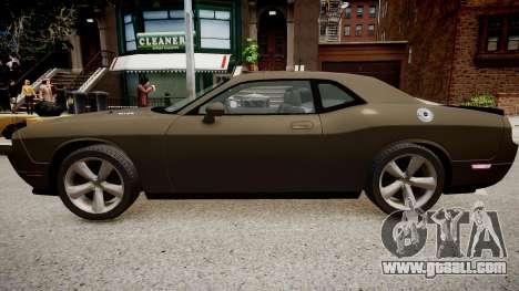 Dodge Challenger SRT8 2010 for GTA 4 back left view