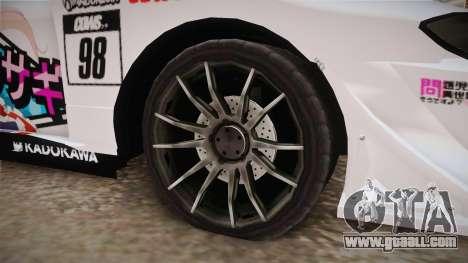 Nissan Silvia S15 Kurousagi Itasha for GTA San Andreas back view