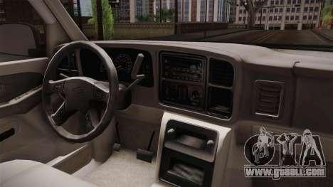 Chevrolet Suburban Z71 2003 for GTA San Andreas inner view