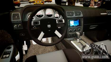 Dodge Challenger SRT8 2010 for GTA 4 inner view
