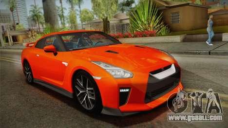 Nissan GT-R Premium 2017 for GTA San Andreas