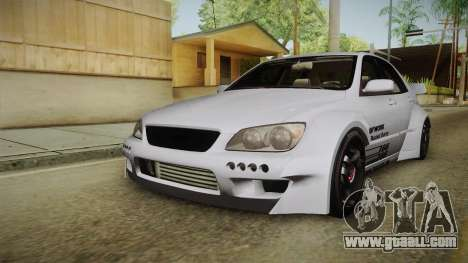 Lexus IS300 Rocket Bunny v2 for GTA San Andreas back left view
